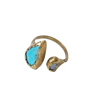 Free People Inner Compass Raw Stone Ring